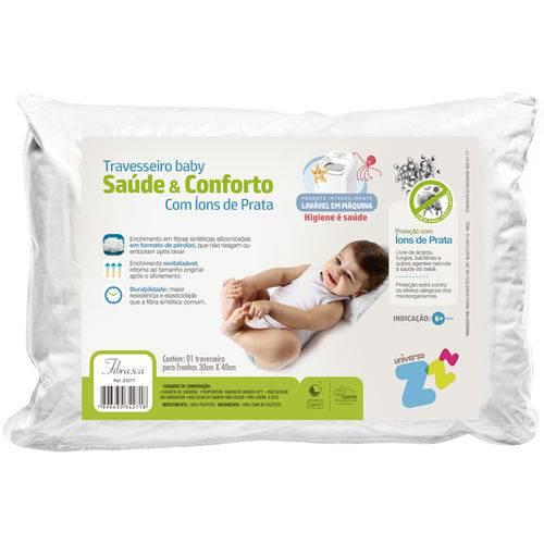 Travesseiro Fibrasca Baby Saúde e Conforto, Branco
