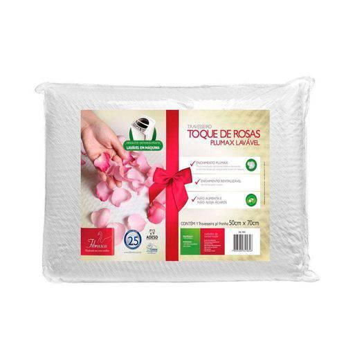 Travesseiro Fibrasca Fibra Plumax Toque de Rosa 4585