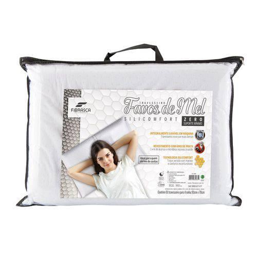 Travesseiro Fibrasca Silicomfort Favos de Mel ZERO - 4085 - P/ Fronha 50x70