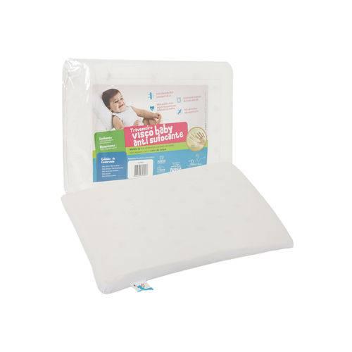 Travesseiro Fibrasca Visco Antissufocante Percal 30x40cm Branco