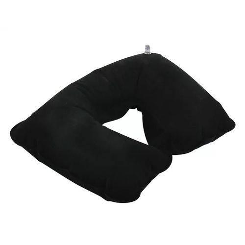 Travesseiro Inflável Pescoço de Veludo para Colchão Barraca