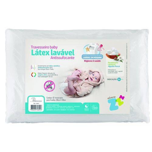Travesseiro Látex Lavável Bebê Fibrasca