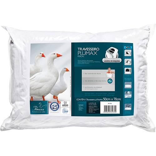 Travesseiro Plumax com Plumas de Ganso em Fibra Sintética 100% Siliconizada - Percal - Fibrasca