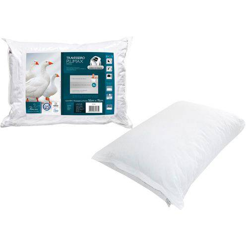 Travesseiro Plumax Percal Integralmente Lavável para Fronhas 50x70 Cm - Fibrasca