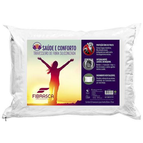 Travesseiro Saúde & Conforto Íons de Prata Lavav Fibrasca