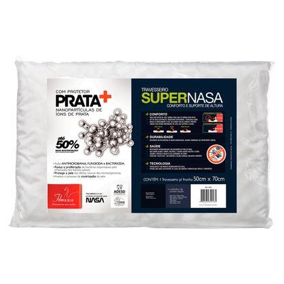 Travesseiro SuperNasa Fibrasca com Suporte de Altura e Íons de Prata 50x70cm