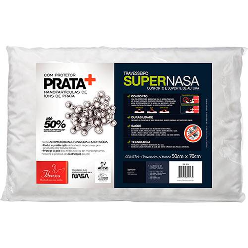 Travesseiro Viscoelástico Supernasa Íons de Prata - Fibrasca
