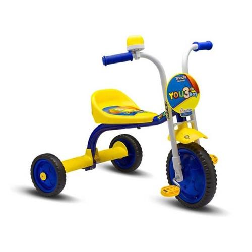 Triciclo Aro 5 You 3 Rodas Boy Nathor Amarelo