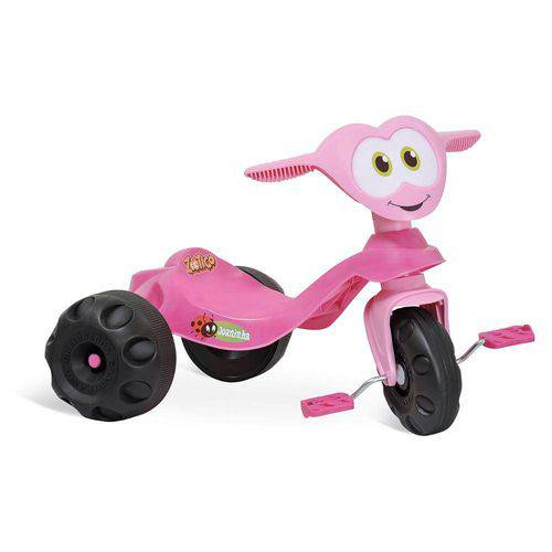 Triciclo Baixo Infantil Zootico Joaninha Rosa 743 - Bandeirante