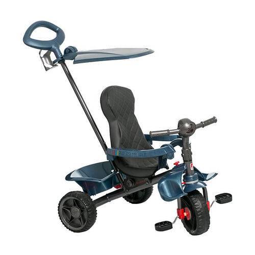 Triciclo com Empurrador Smart Reclinável Azul Bandeirante