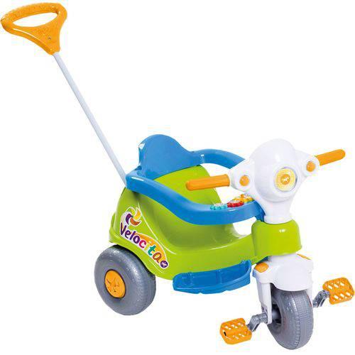 Triciclo Infantil Calesita Velocita - 2 em 1 - Pedal e Passeio com Aro - Verde/Azul/Branco