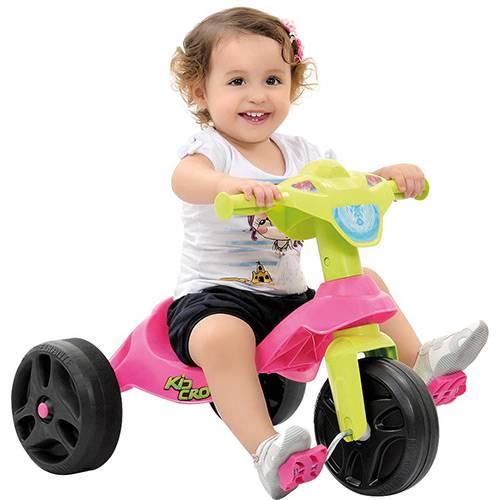 Triciclo Kid Cross Rosa - Bandeirantes