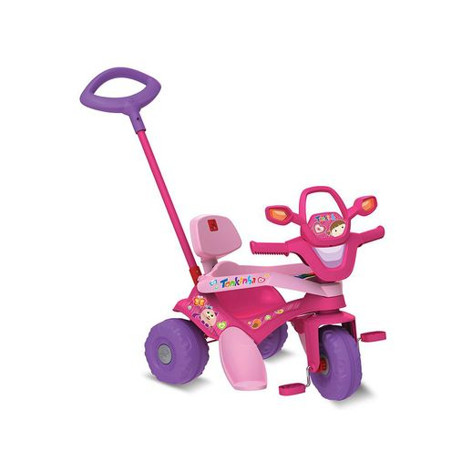 Triciclo Tonkinha Passeio e Pedal Rosa - Bandeirante
