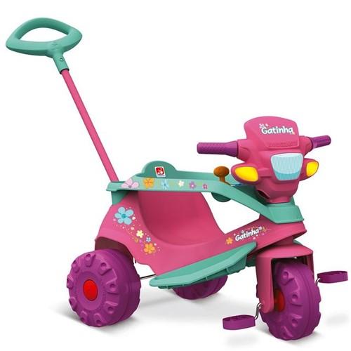 Triciclo Velobaby Gatinha 207 Bandeirante Rosa