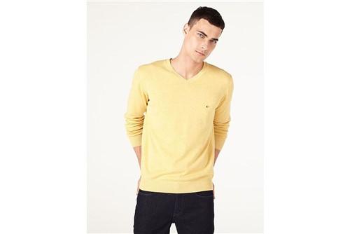 Tricot Decote V Mescla - Amarelo - P