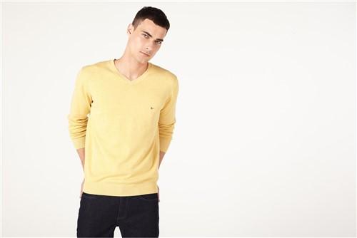 Tricot Decote V Mescla - Amarelo - M