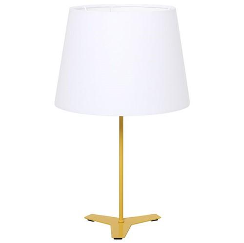 Trif Luminária Mesa C/ Cúpula Luz P Banana/branco