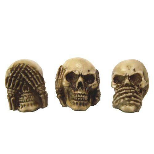 Trio Caveira Crânios Sábio Cego Surdo e Mudo