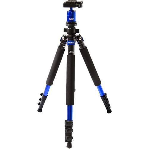 Tripé Monopé Vivitar Vivmpt600 em Liga de Magnésio Altura Até 1,57M - Azul