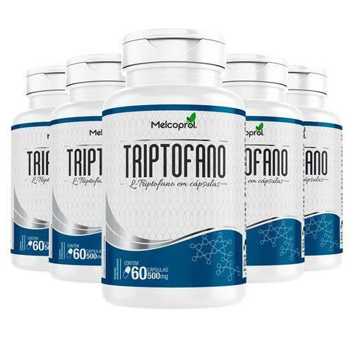 Triptofano 500mg - 5 Un de 60 Cápsulas - Melcoprol