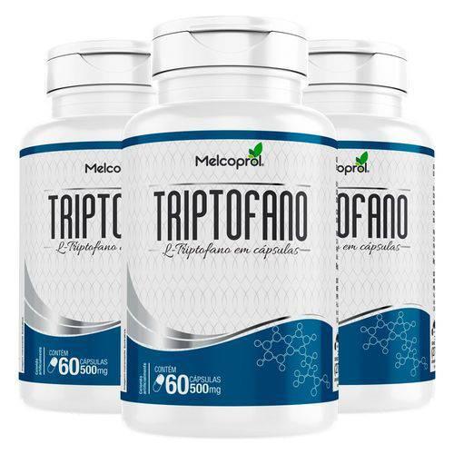 Triptofano 500mg - 3 Un de 60 Cápsulas - Melcoprol