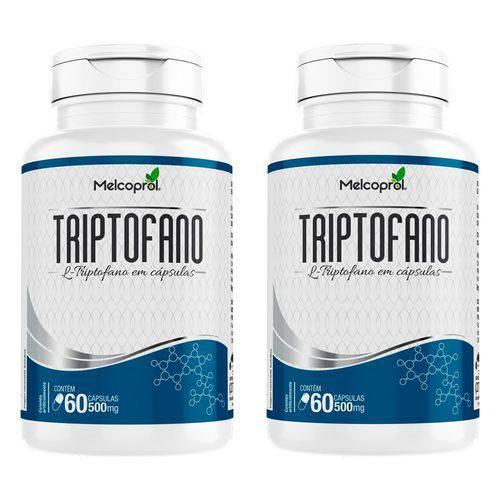 Triptofano 500mg - 2 Un de 60 Cápsulas - Melcoprol