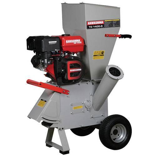 Triturador e Forrageiro a Gasolina 15Hp Kawashima Tg 1400-S C/ Engate P/ Reboque