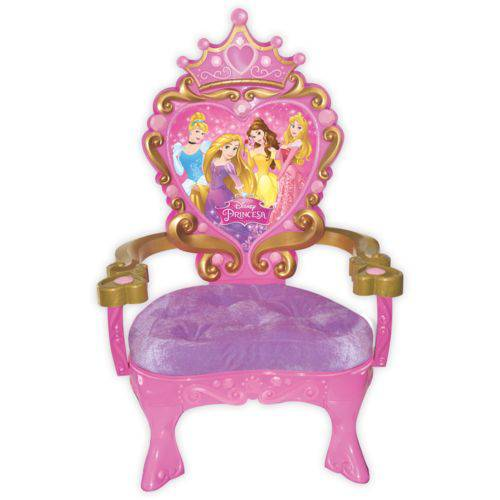 Trono Cadeirinha e Coroa das Princesas Disney
