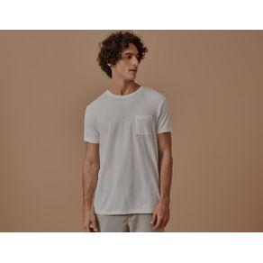 Tshirt Crepe Listrada Branco - G