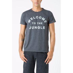 Tshirt Welcome To The Jungle Recorte Preto - P
