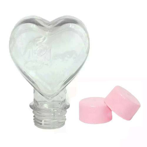 Tubete Coração 15 Anos Pet 100 Ml Tampa Rosa - 10 Unidades