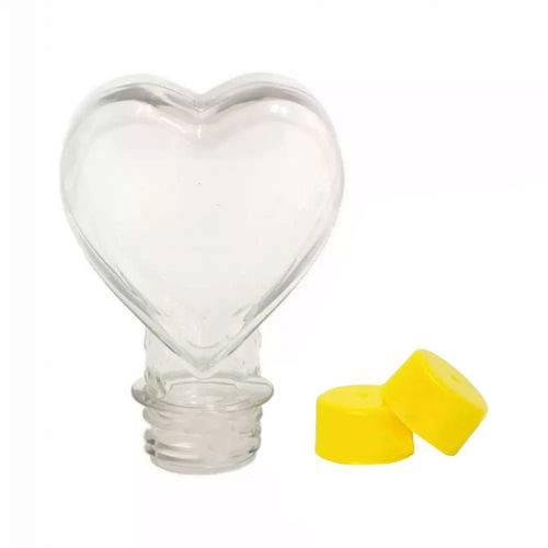 Tubete Coração Pet 100 Ml Tampa Amarela - 10 Unidades