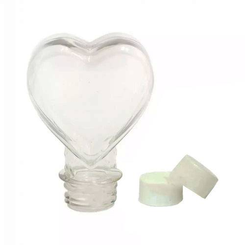 Tubete Coração Pet 100 Ml Tampa Branca - 10 Unidades