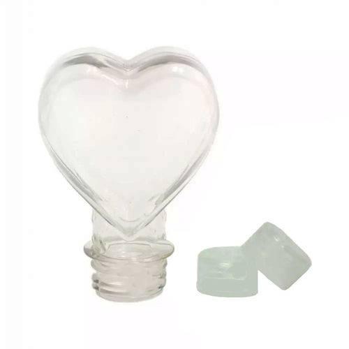 Tubete Coração Pet 100 Ml Tampa Transparente - 10 Unidades