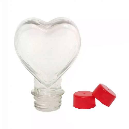 Tubete Coração Pet 100 Ml Tampa Vermelho - 10 Unidades