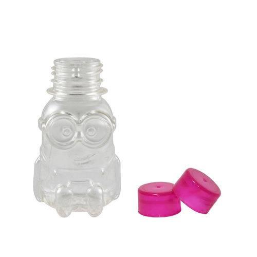 Tubete Minions PET 70 Ml Tampa Pink - 10 Unidades