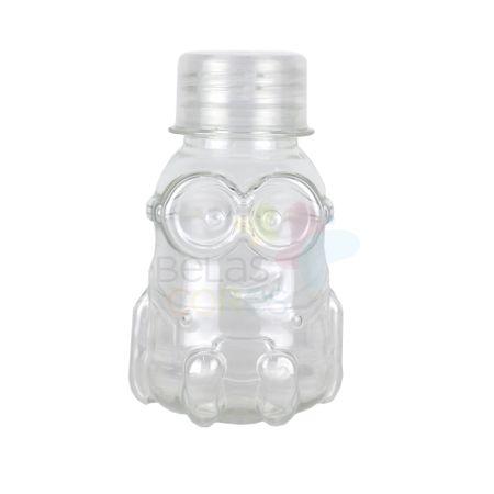 Tubete Minions PET 70 Ml Tampa Transparente - 10 Unidades