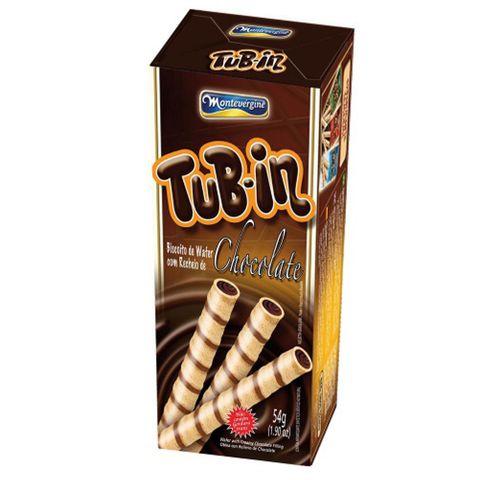 Tubinho de Wafer Tub In Recheio Chocolate 48g - Montevérgine