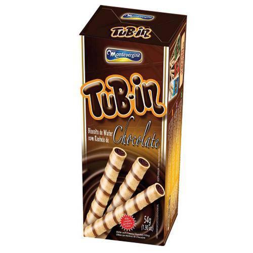 Tubinho de Wafer Tub In Recheio Chocolate 48g - Montevergine