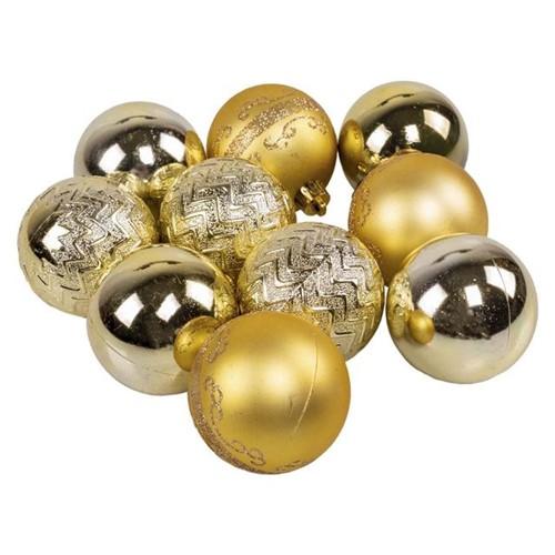 Tubo de Bolas 6cm com 10 Peças Dourada Dourado