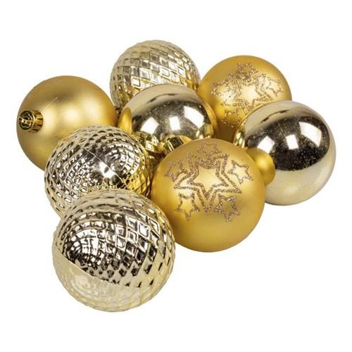 Tubo de Bolas 7cm com 8 Peças Dourada Dourado