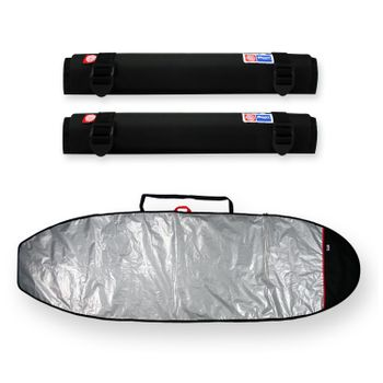 Tubo Espuma Rack 65Cm + Capa Stand Up Paddle Refletiva 11'6