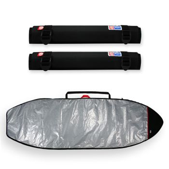 Tubo Espuma Rack 65Cm + Capa Stand Up Paddle Refletiva 9'5