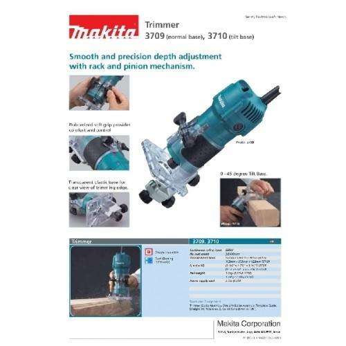 Tupia Manual Laminadora Makita 3709 530w 30000 Rpm 220v