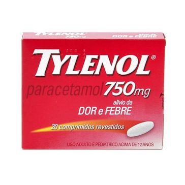 Tylenol 750mg Johnson & Johnson 20 Comprimidos