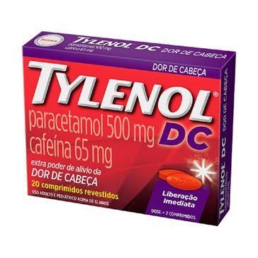 Tylenol Dc Johnson & Johnson 20 Comprimidos
