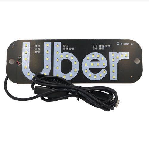 Uber Led Placa 45 Leds Verde - com Cabo Usb e Interruptor