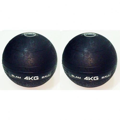 2 Un Bola Medicine para Crossfit 4 Kg Liveup Slam Ball