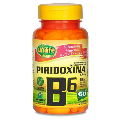 Unilife Vitamina B6 Piridoxina 500mg 60 Caps