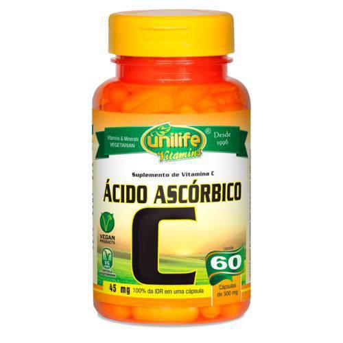 Unilife Vitamina C Acido Ascorbico 60 Caps